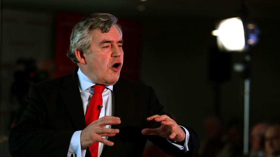 Former Prime Minister Gordon Brown.