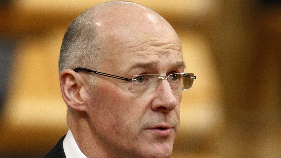 John Swinney  blamed uncaring UK governments for an increase in in-work poverty.