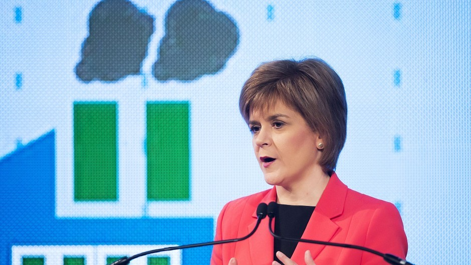 Nicola Sturgeon condemned said a minority UK government could be good for the country.