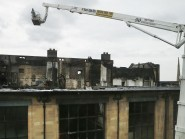 The fire-damaged Mackintosh building at the Glasgow School of Art