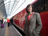 Claire Perry at the launch of Virgin Trains East Coast at London King's Cross station