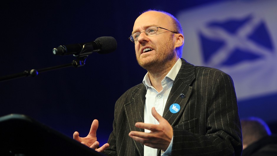 "Scottish Greens co-convenor Patrick Harvie would use powers to introduce ""progressive"" taxation"