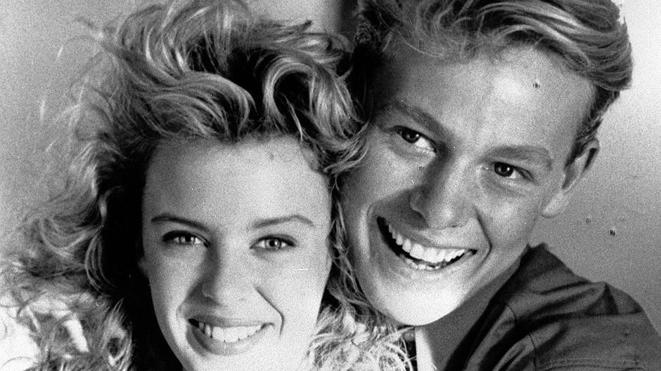 Jason Donovan with Kylie Minogue