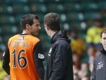 Dundee United's Ryan McGowan was sent off against Celtic in the Scottish Cup