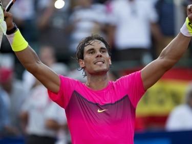 Rafael Nadal celebrates his latest win in Buenos Aires (AP)