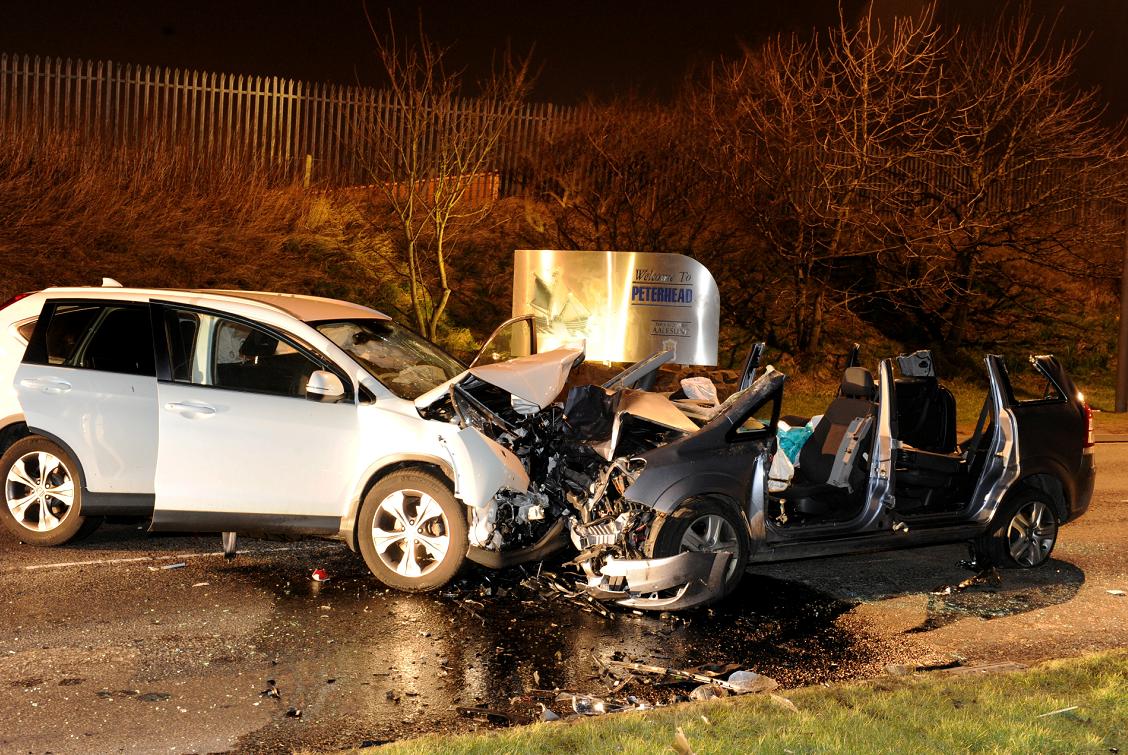 The crash happened around 9pm last night