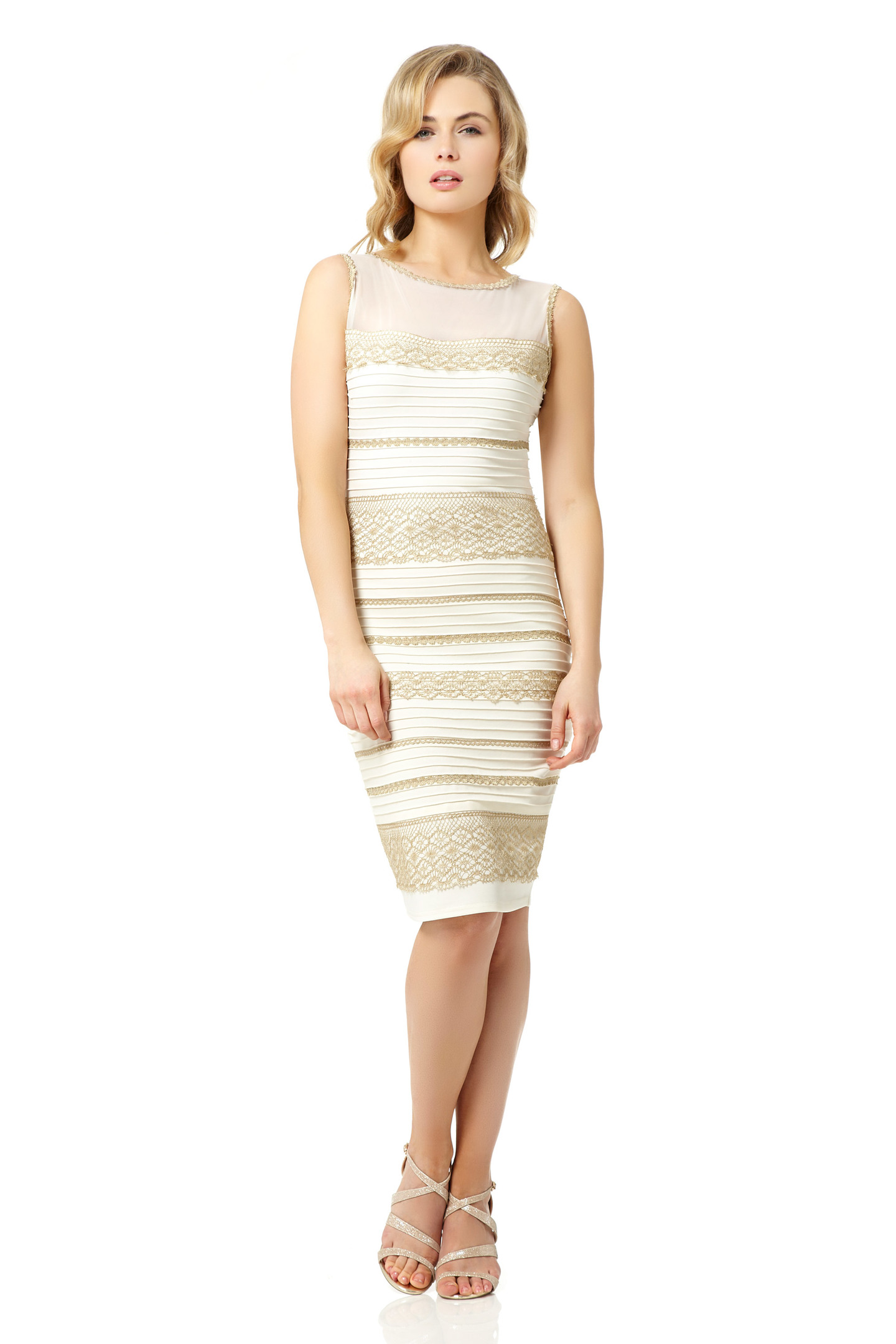 Makers of blue and black dress create a white and gold ...