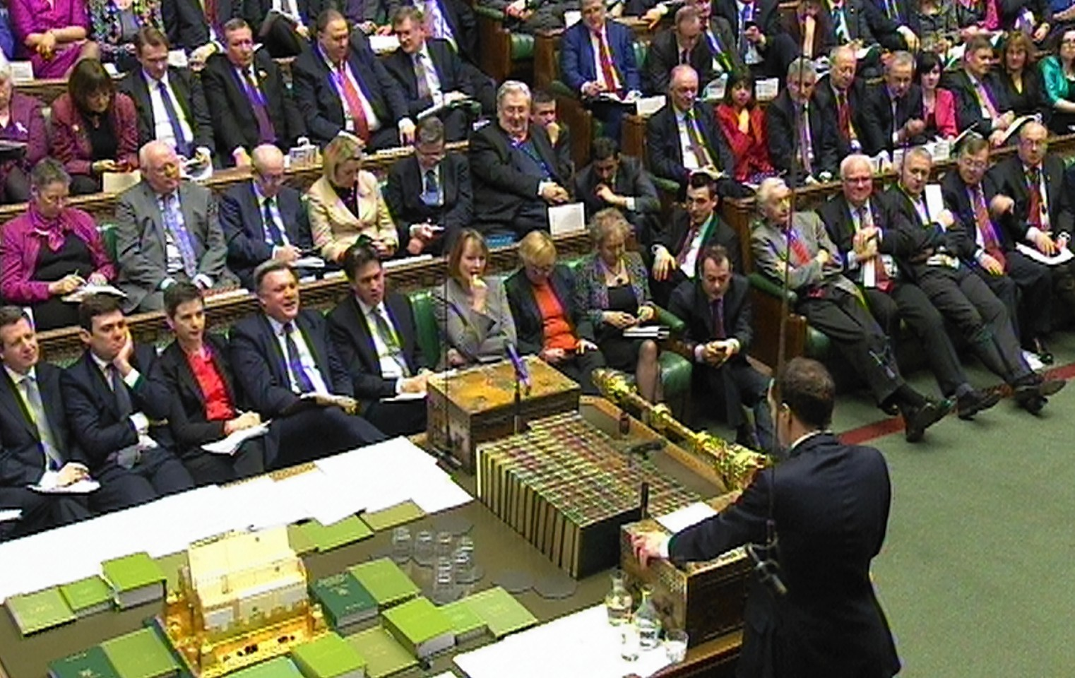 Chancellor of the Exchequer George Osborne delivers his Budget statement t