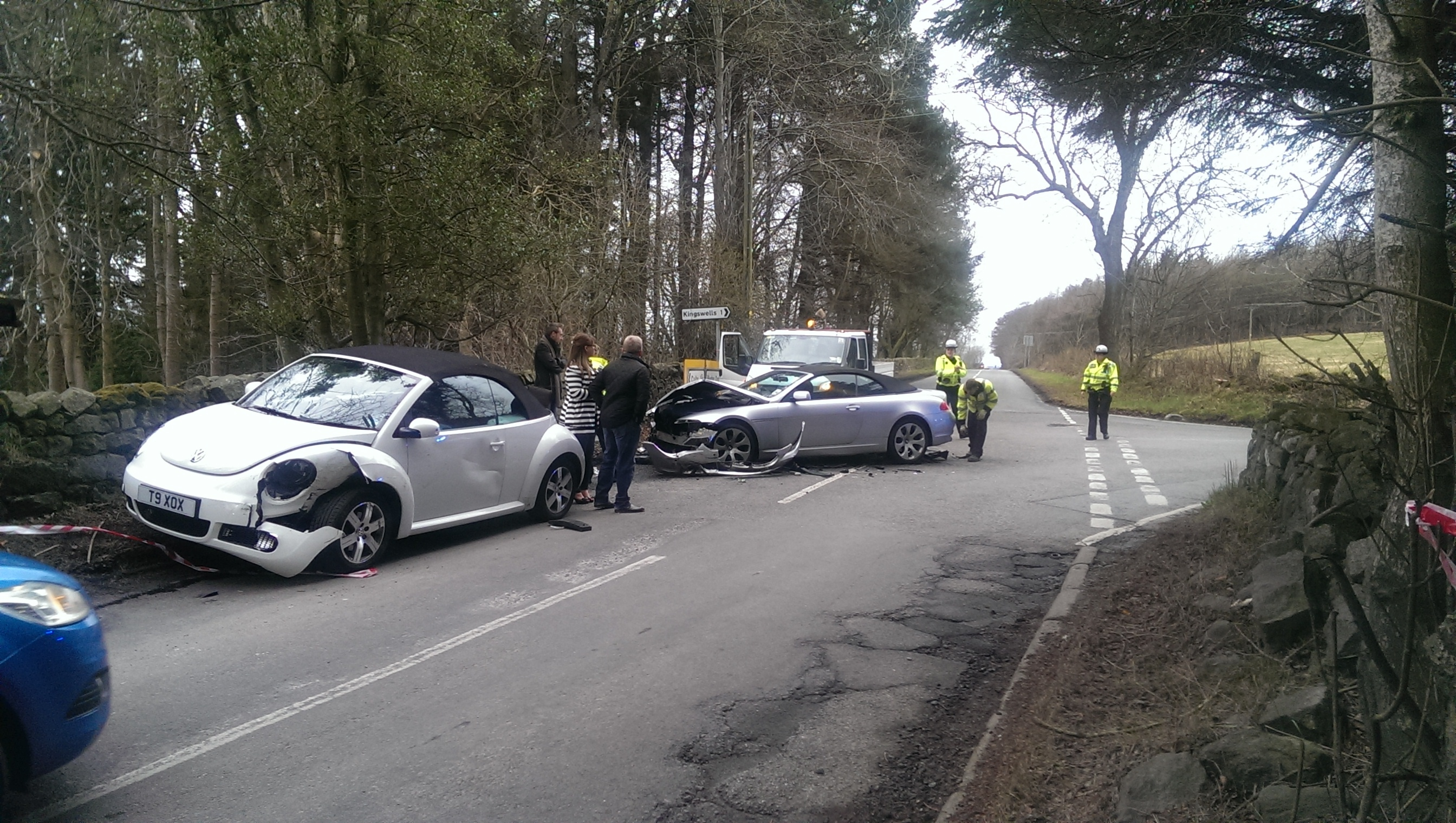 The crash happened on an unclassified road