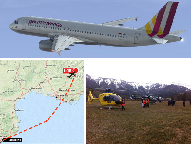 The Germanwings plane came down in the French Alps