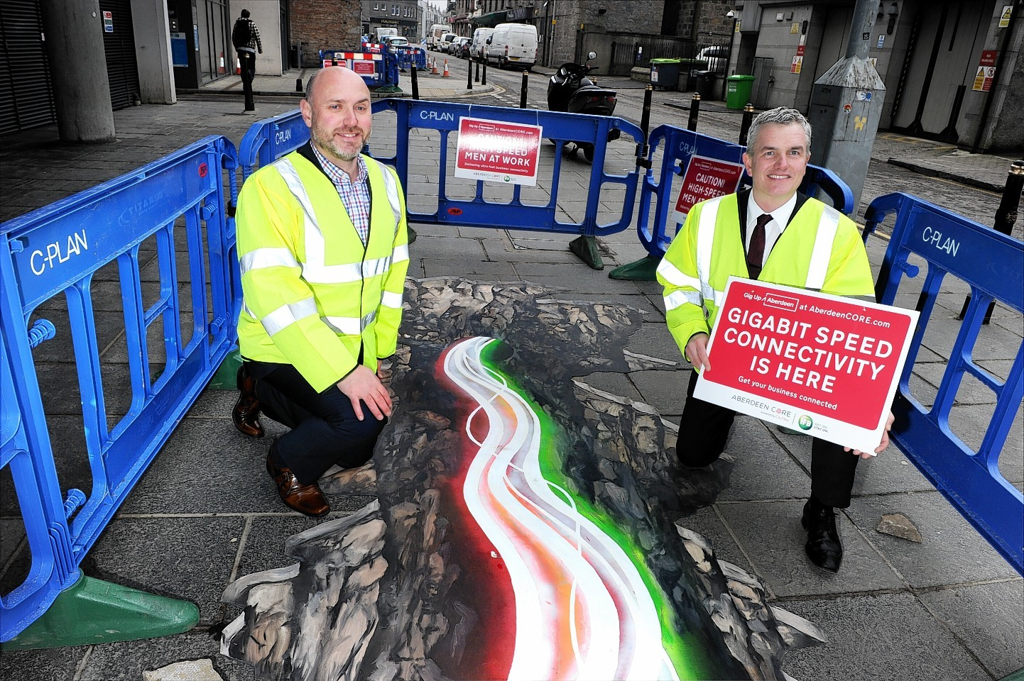 """The """"Aberdeen CORE"""" is being laid by infrastructure builder CityFibre"""