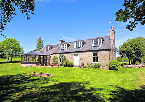 Uppermuir Farmhouse in Aberdeenshire