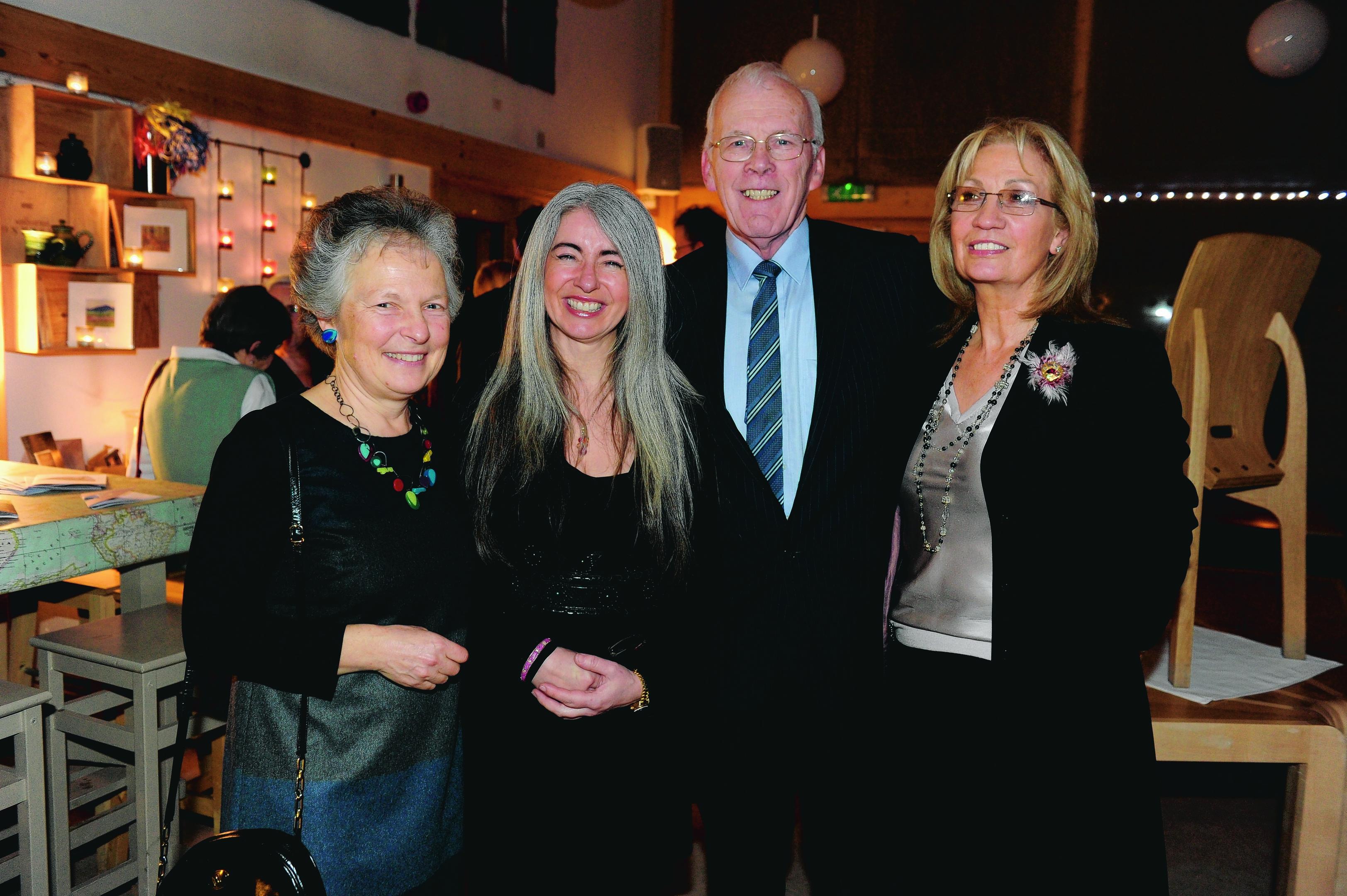 Fiona Hope, Dame Evelyn Glennie, Sir Ian Wood and Lady Helen Wood.