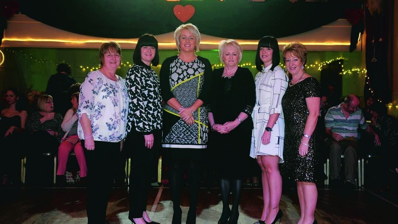 Moira Smith, Nicola Murray, Katie Watt Lynda Allan, Kim Fearns and Hazel Fearns