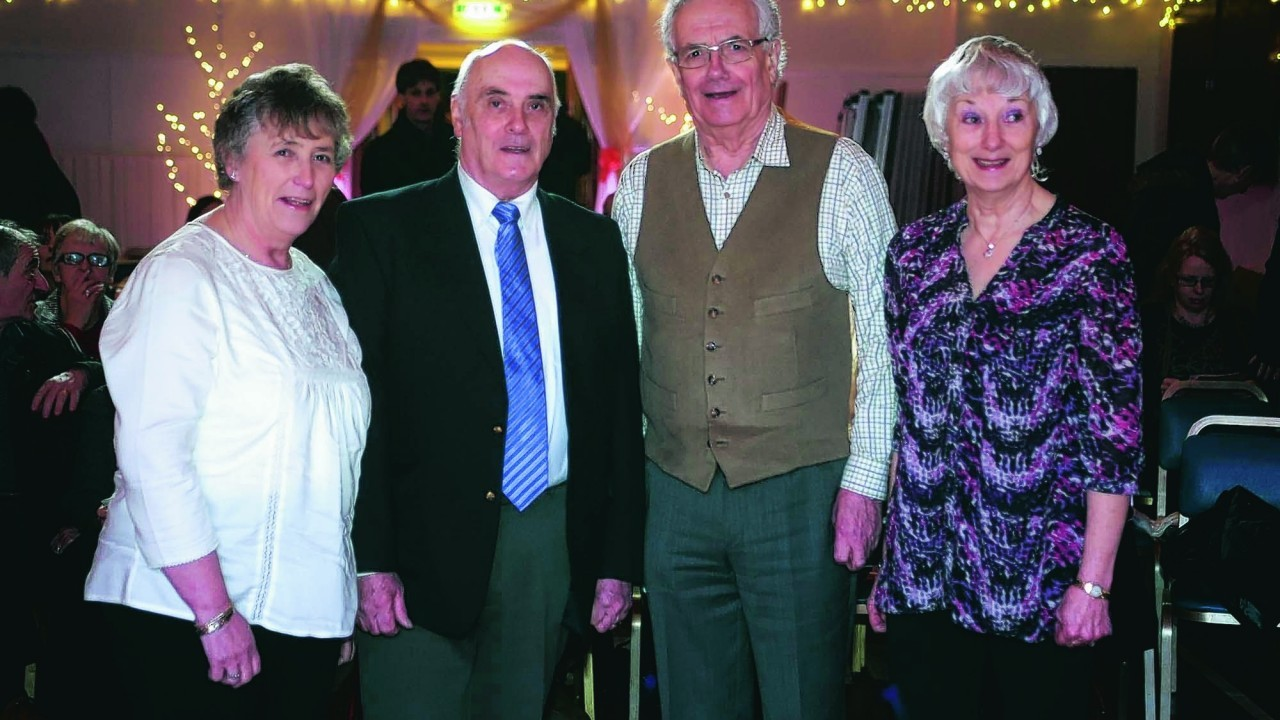 Celia Going, John Going, Tony Barnes and Anne Barnes