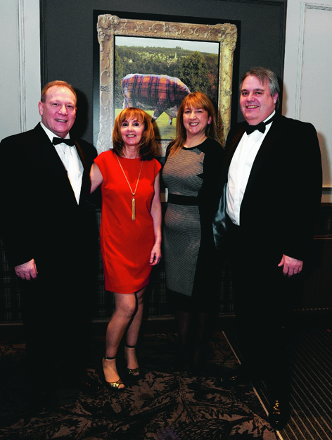 James and Rosina McSporran with Elaine and Keith Duncan