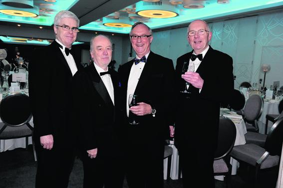 Ian Beaton, Rev Dr Brian Sheret, Alan Dick and Ramsay Duncan