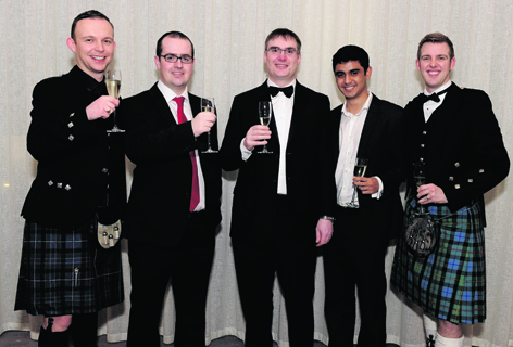 Malcolm Ruxton, James Hutton, Kevin Nolan, Anshul Kamath and Daniel Smith