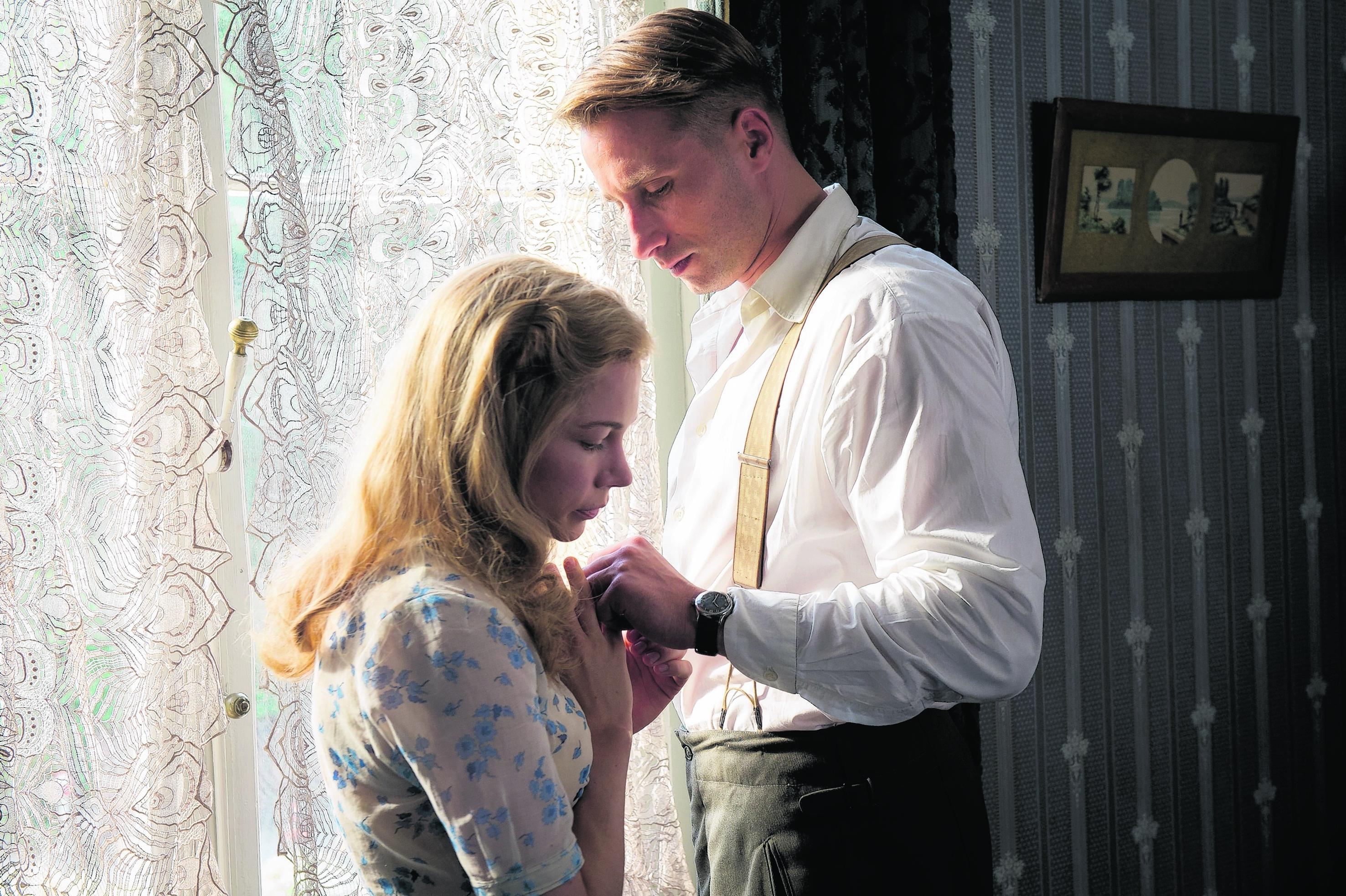 Michelle Williams and Matthias Schoenaerts in Suite Francaise