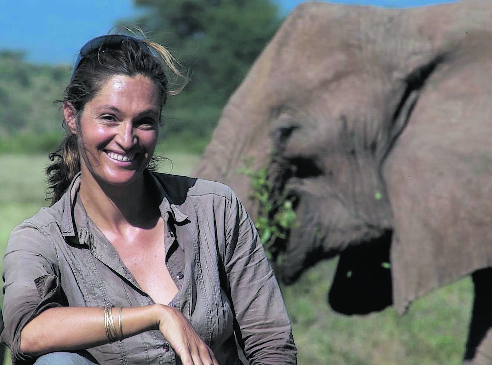 Wildlife expert Saba Douglas-Hamilton