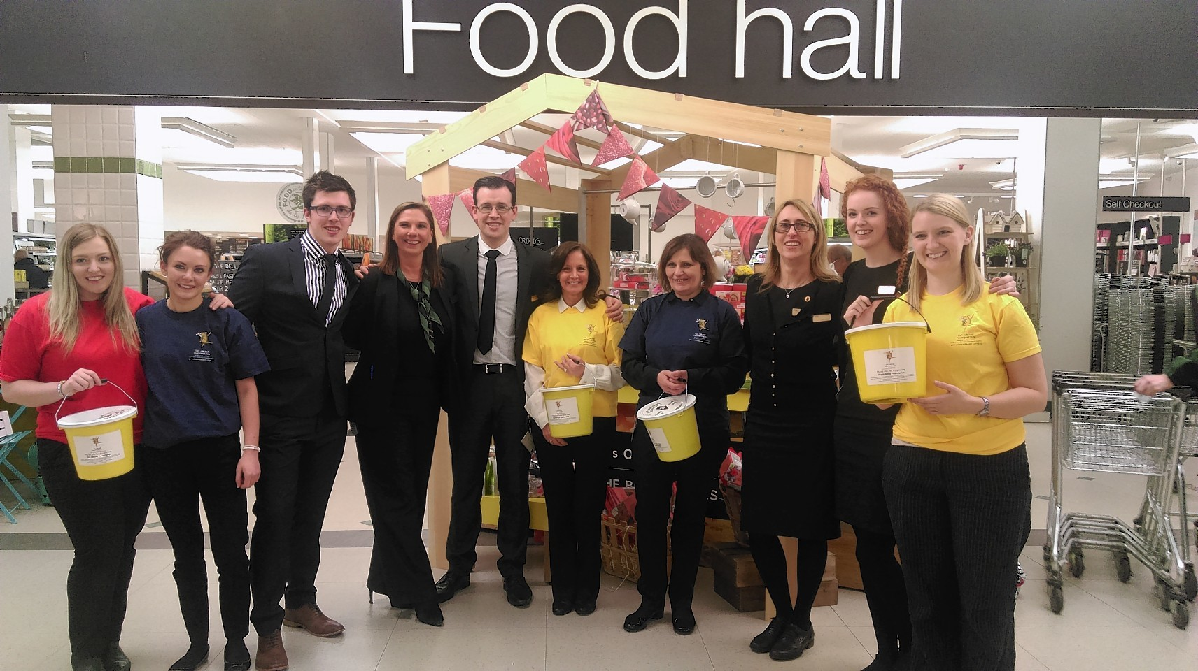 Toni Ross, Claire Mead, Andrew McCurry, Katherine Pace, Jon Cameron, Liz Macrae, Joyce Shuttleworth, Chloe Hutchison, Caroline Lamont, and Claire Bush at M&S
