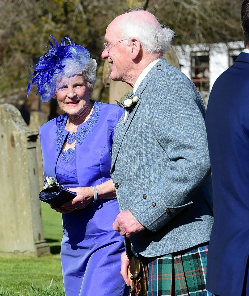 Shirley and Roy Erskine after Saturday's ceremony
