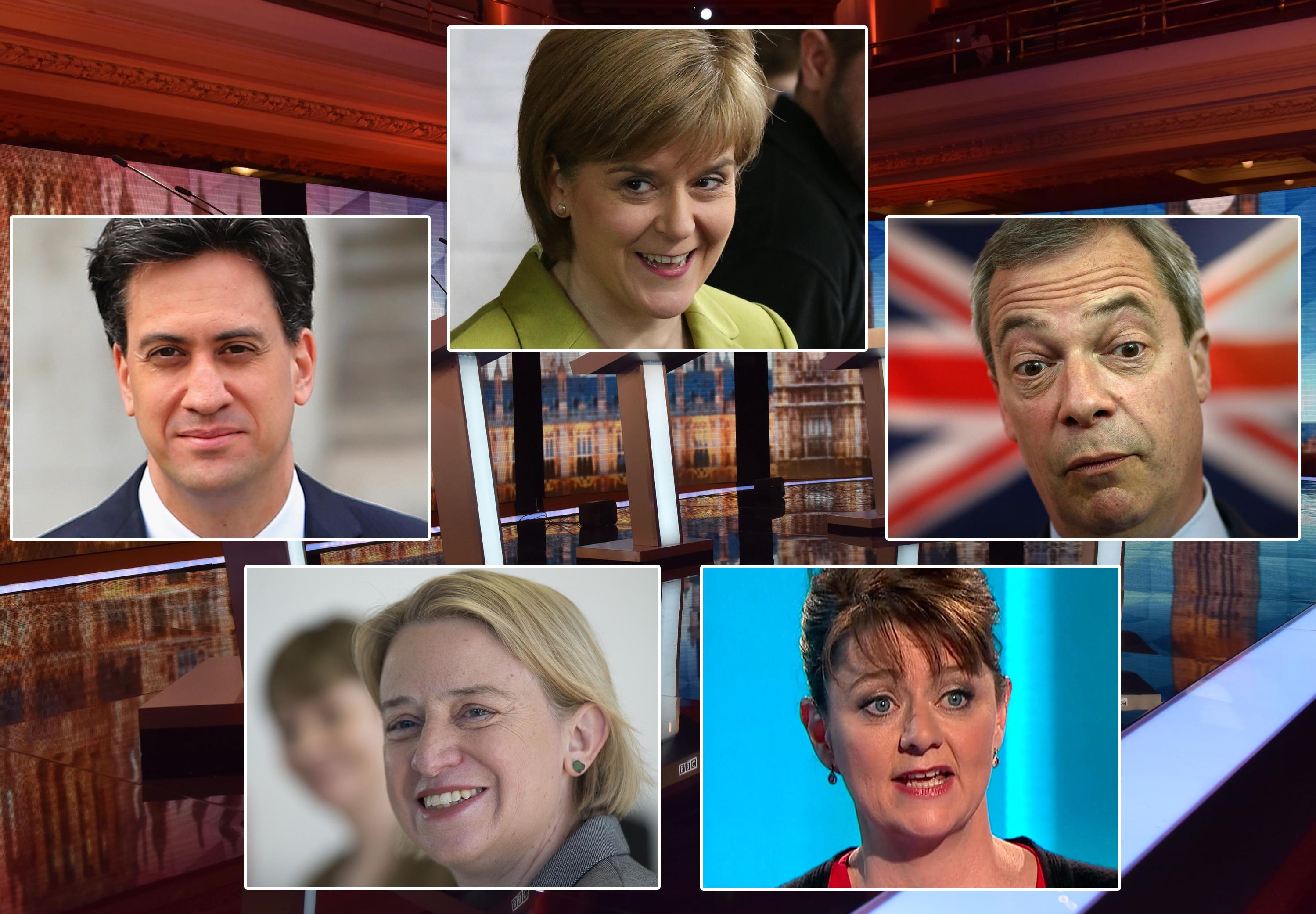 BBC Election Debate between Ed Miiband, Nigel Farage, Natalie Bennett, Nicola Sturgeon and Leanne Wood