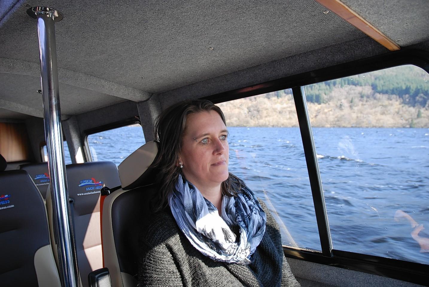 Barbara on her visit to Scotland