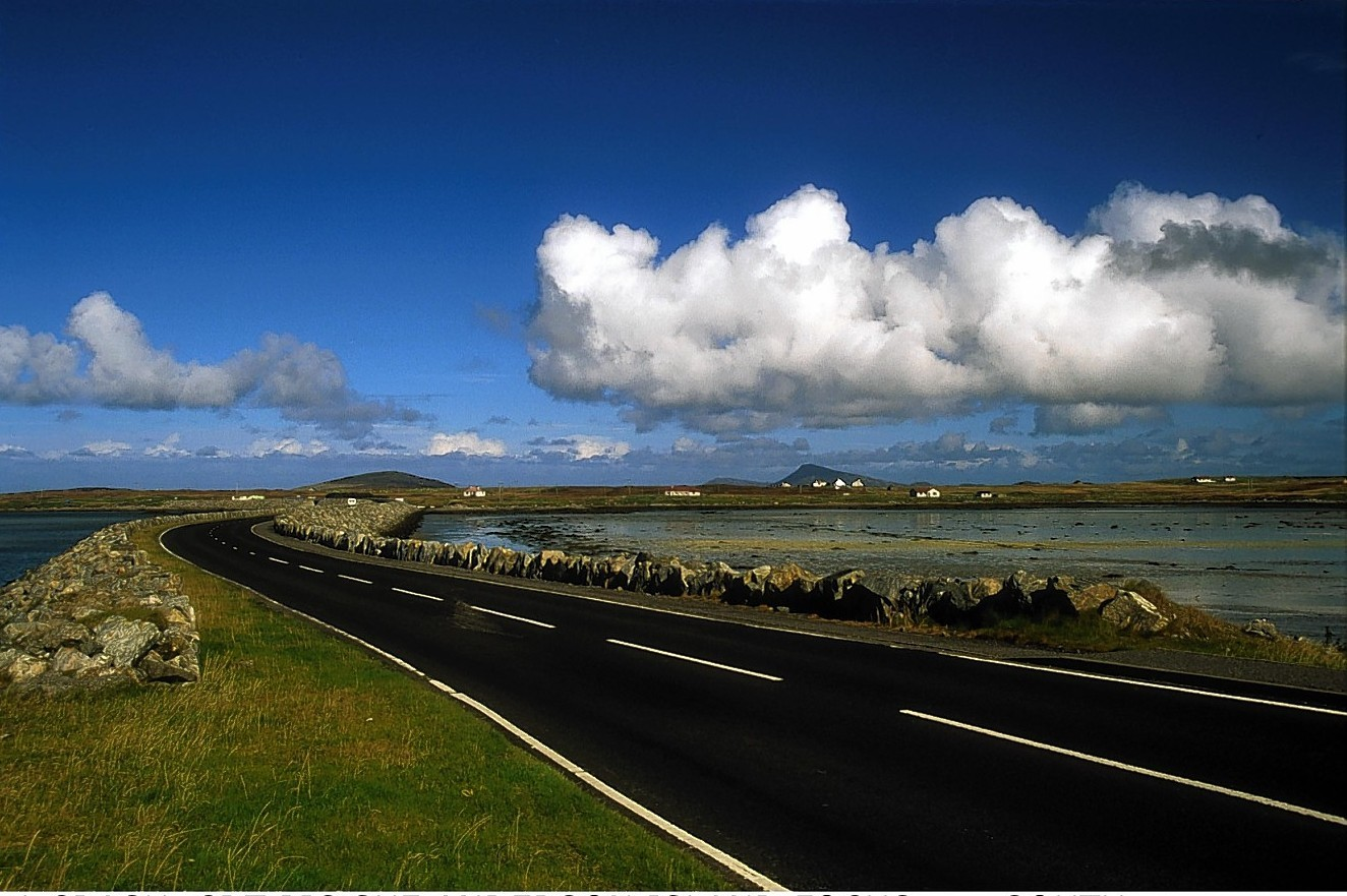 South Benbecula causeway from South Uist