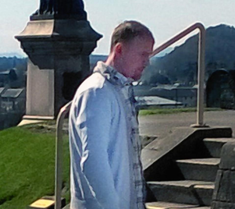Colin Reid outside court