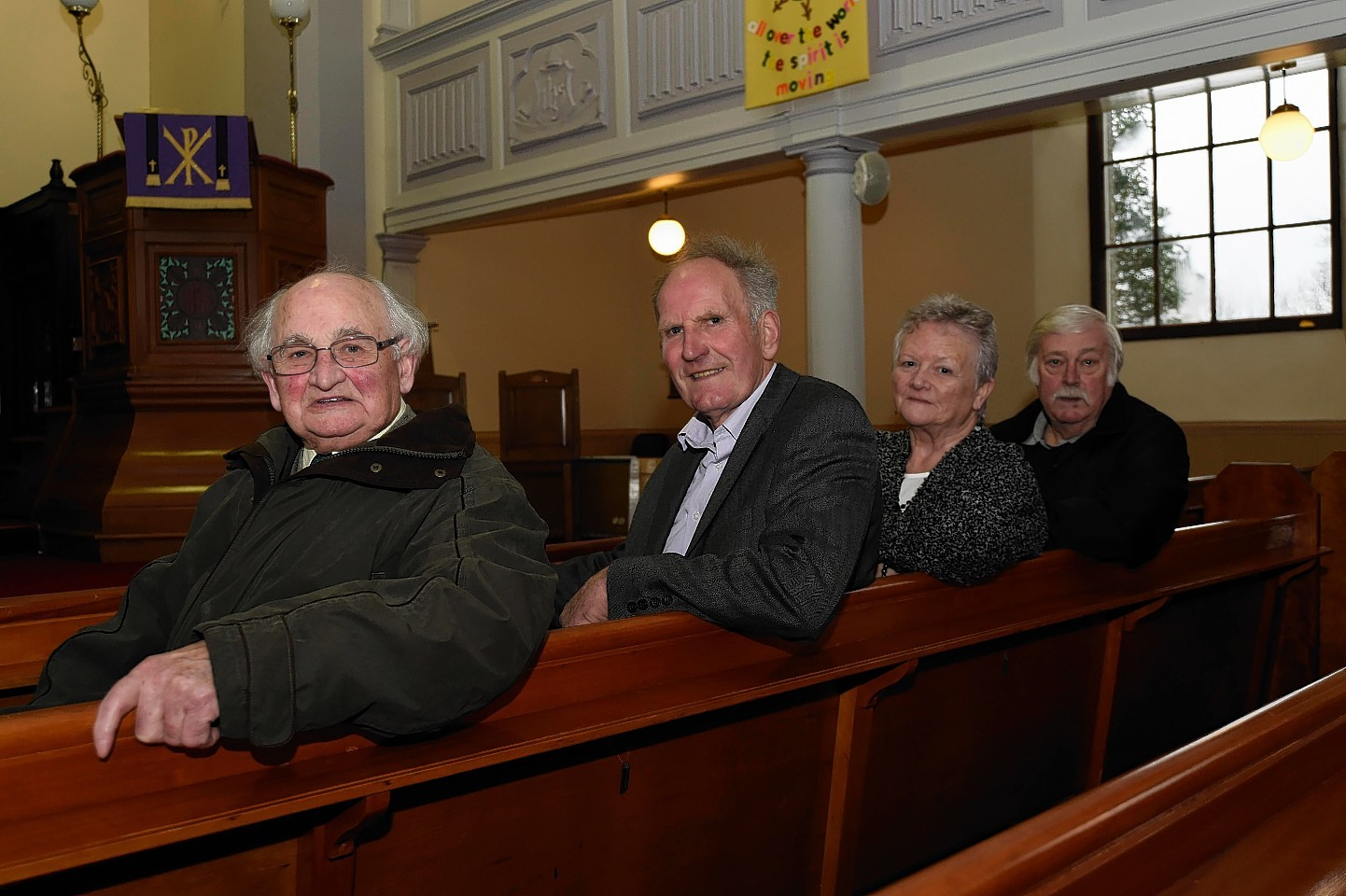 The committee seeking to find a minister for Crimond and Lonmay churches - Jim Bruce, Roy Kinghorn, Ann Bisset and Gordon Reid