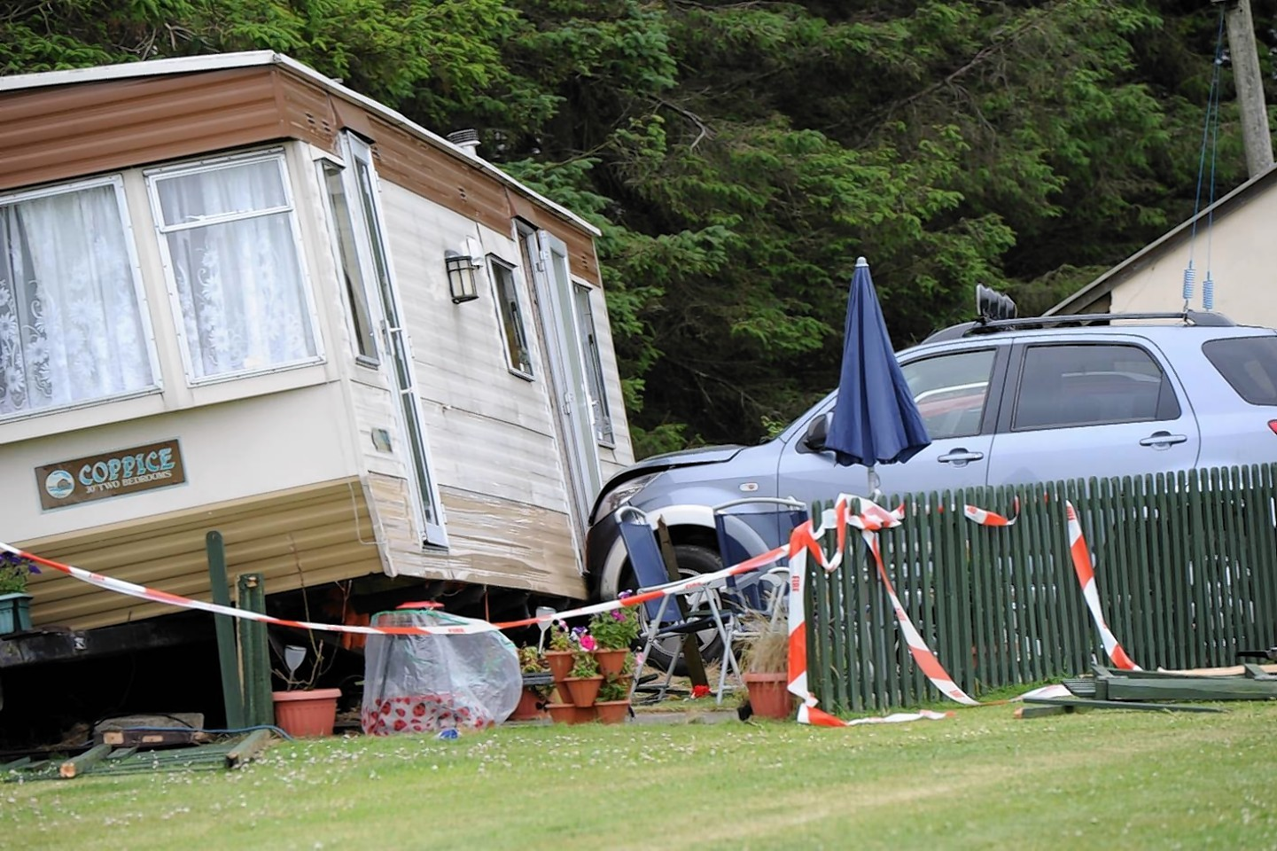 The tragic accident happened at East Balthangie Caravan Park, near Cuminestown.