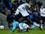 Facey in action for Bolton Wanderers