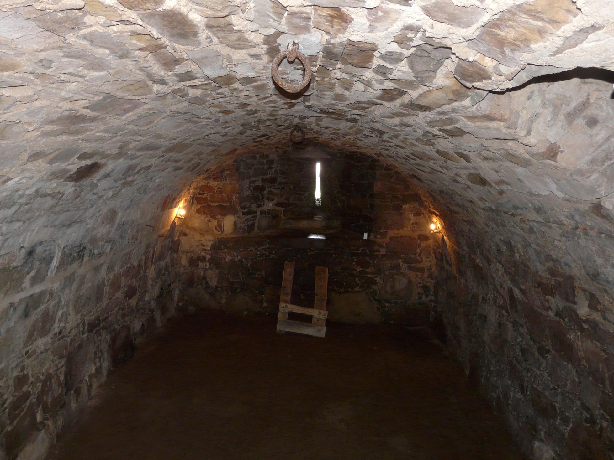 Drum Castle's cellar - its very own bat cave