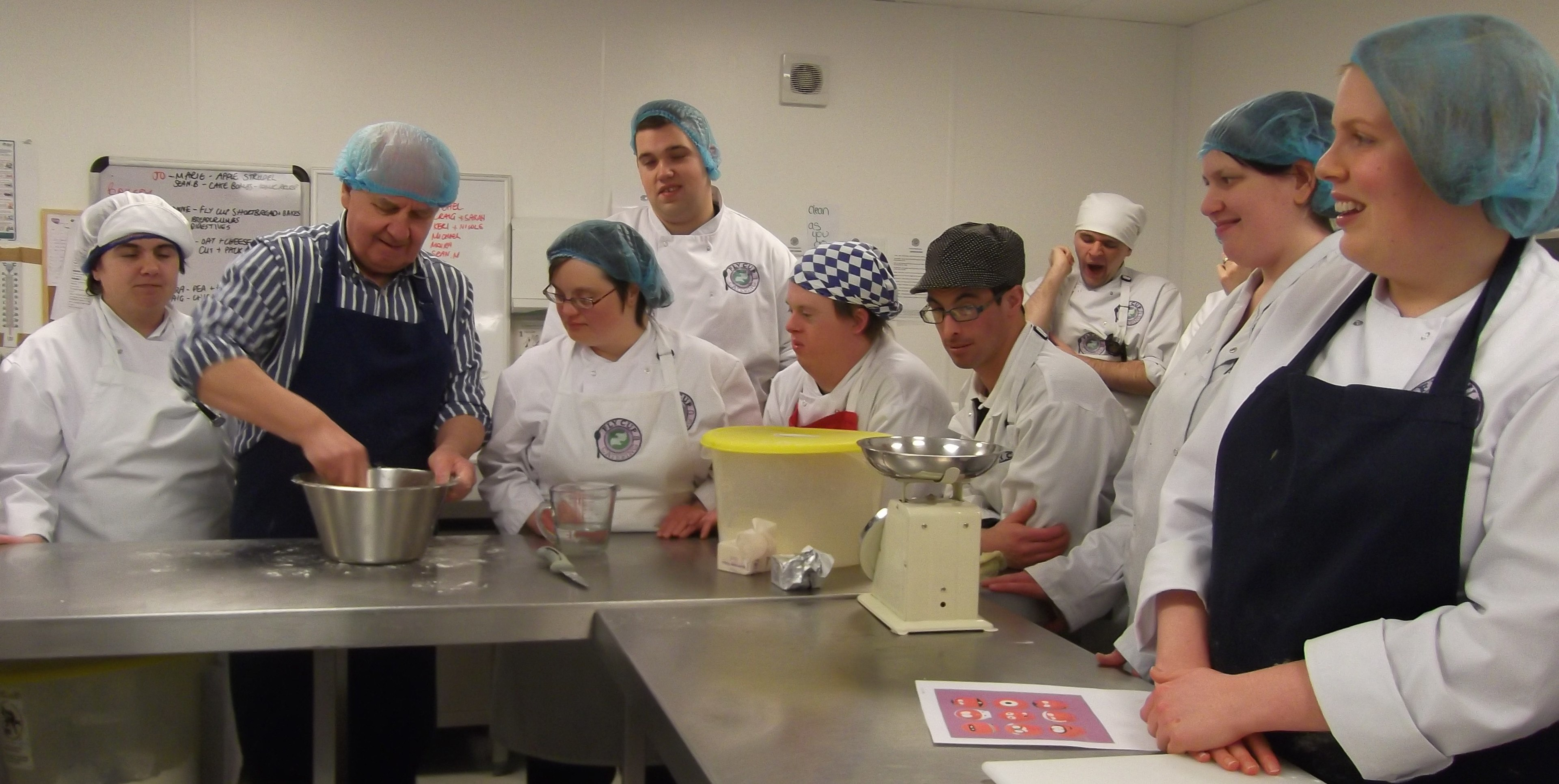 Fly Cup Catering trainees