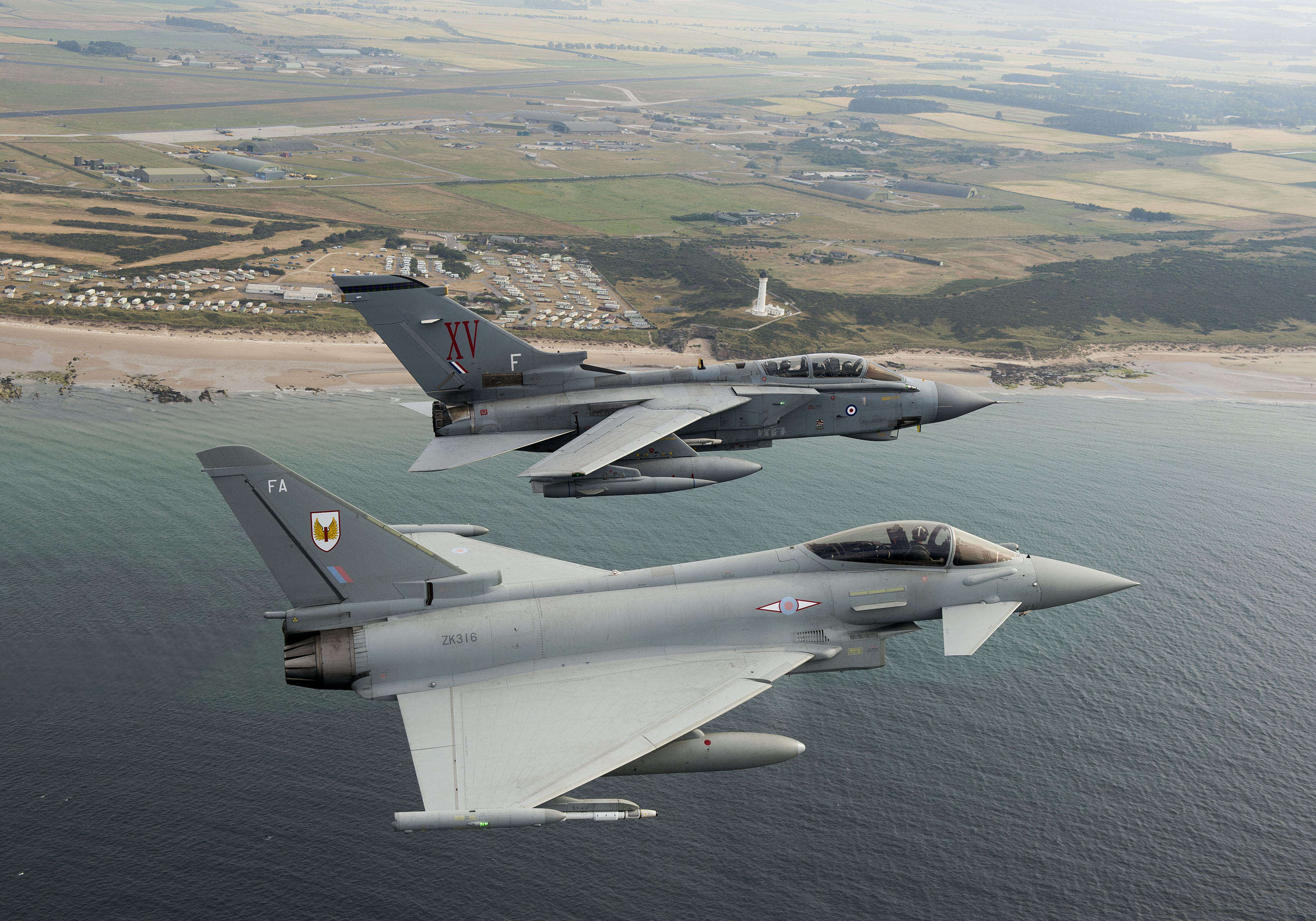 RAF Lossiemouth Typhoons have been involved in three recent incidents