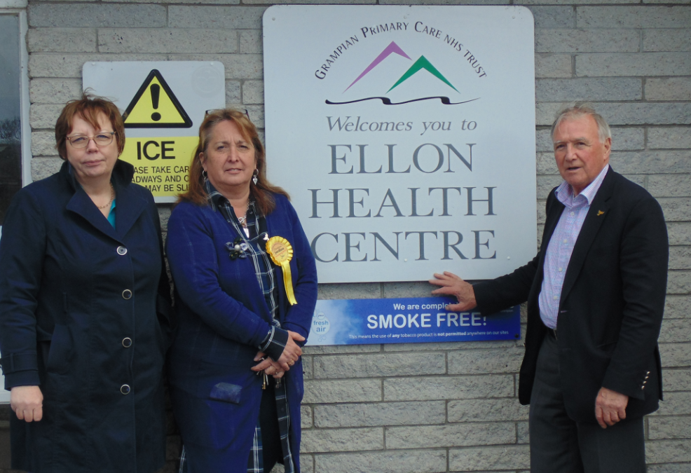 Liberal Democrat candidate Christine Jardine (centre) with north-east MSP Alison McInnes and former Gordon MP Sir Malcolm Bruce.