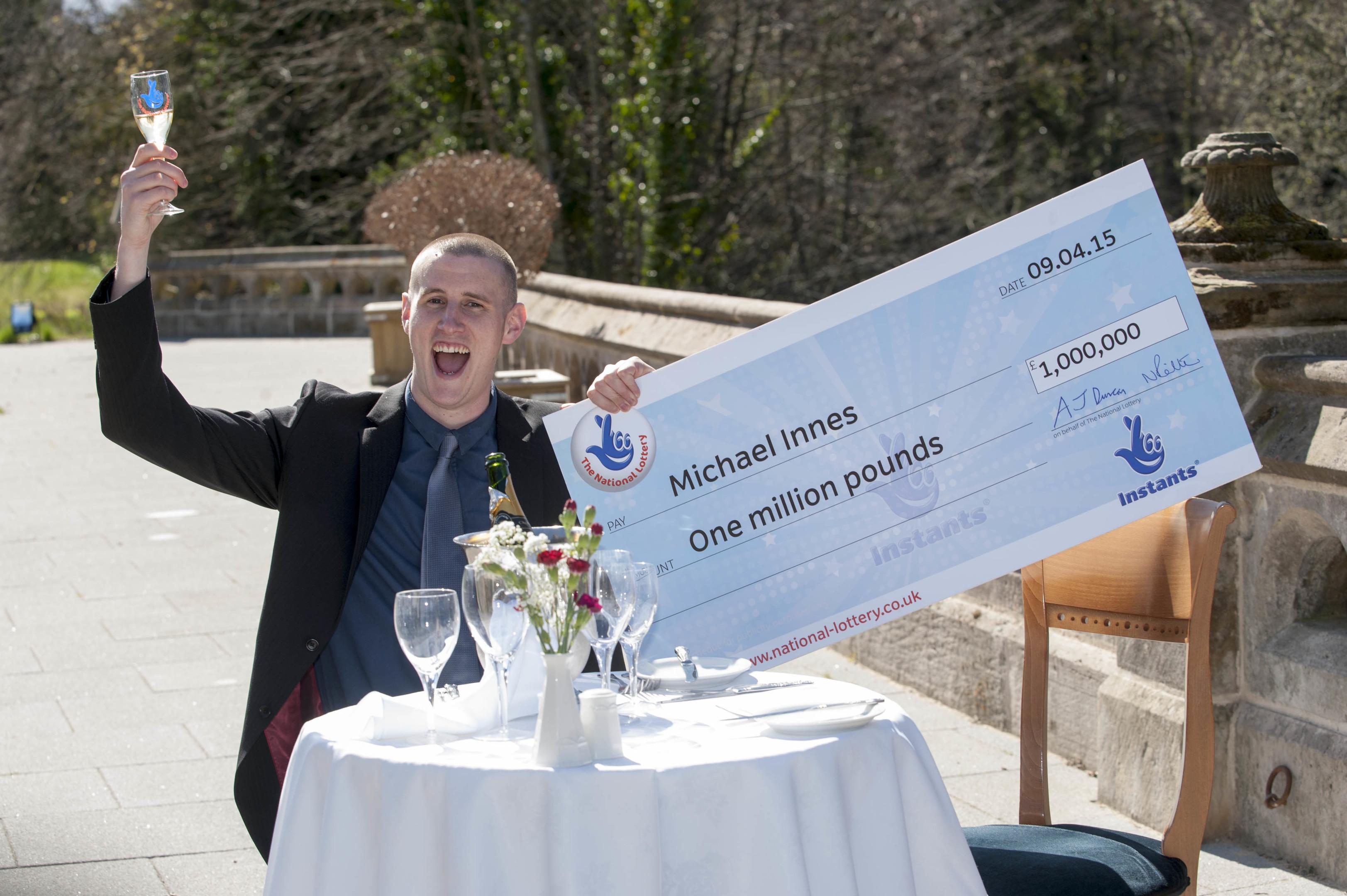 Michael Innes celebrates his big win