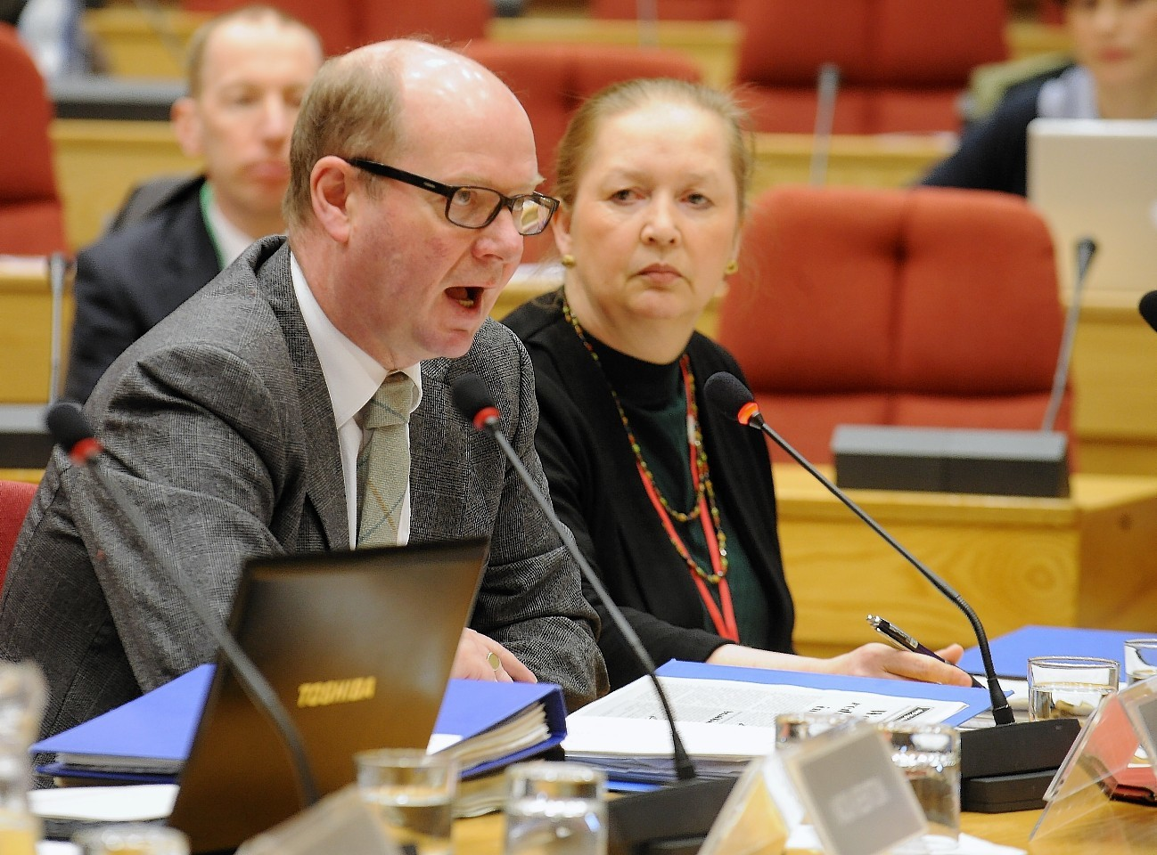 NHS Highland's Garry Coutts (left) and Elaine Mead (right)  were quizzed again by the powerful public audit committee.