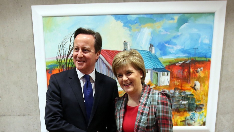 David Cameron and Nicola Sturgeon.
