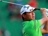 Wu Ashun, pictured, won the China Open after David Howell bogeyed the 18th hole