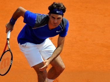 Roger Federer was on court for less than an hour