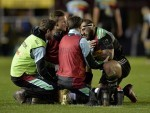 Joe Marler, right, is out for the rest of the season due to a shoulder injury