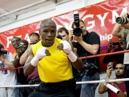Floyd Mayweather, pictured, faces Manny Pacquiao in Las Vegas on May 2