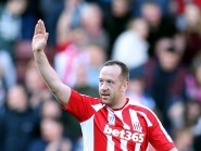 Stoke City's Charlie Adam celebrates scoring his side's second goal of the game