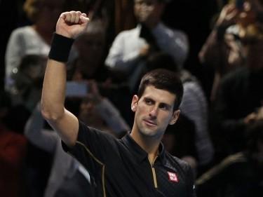 Novak Djokovic, pictured, beat Rafael Nadal in straight sets