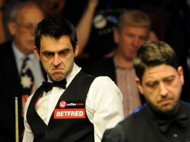 Ronnie O'Sullivan, pictured, took the lead in his second round match against Matthew Stevens