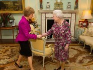 Nicola Sturgeon wore a Totty Rocks jacket to meet the Queen