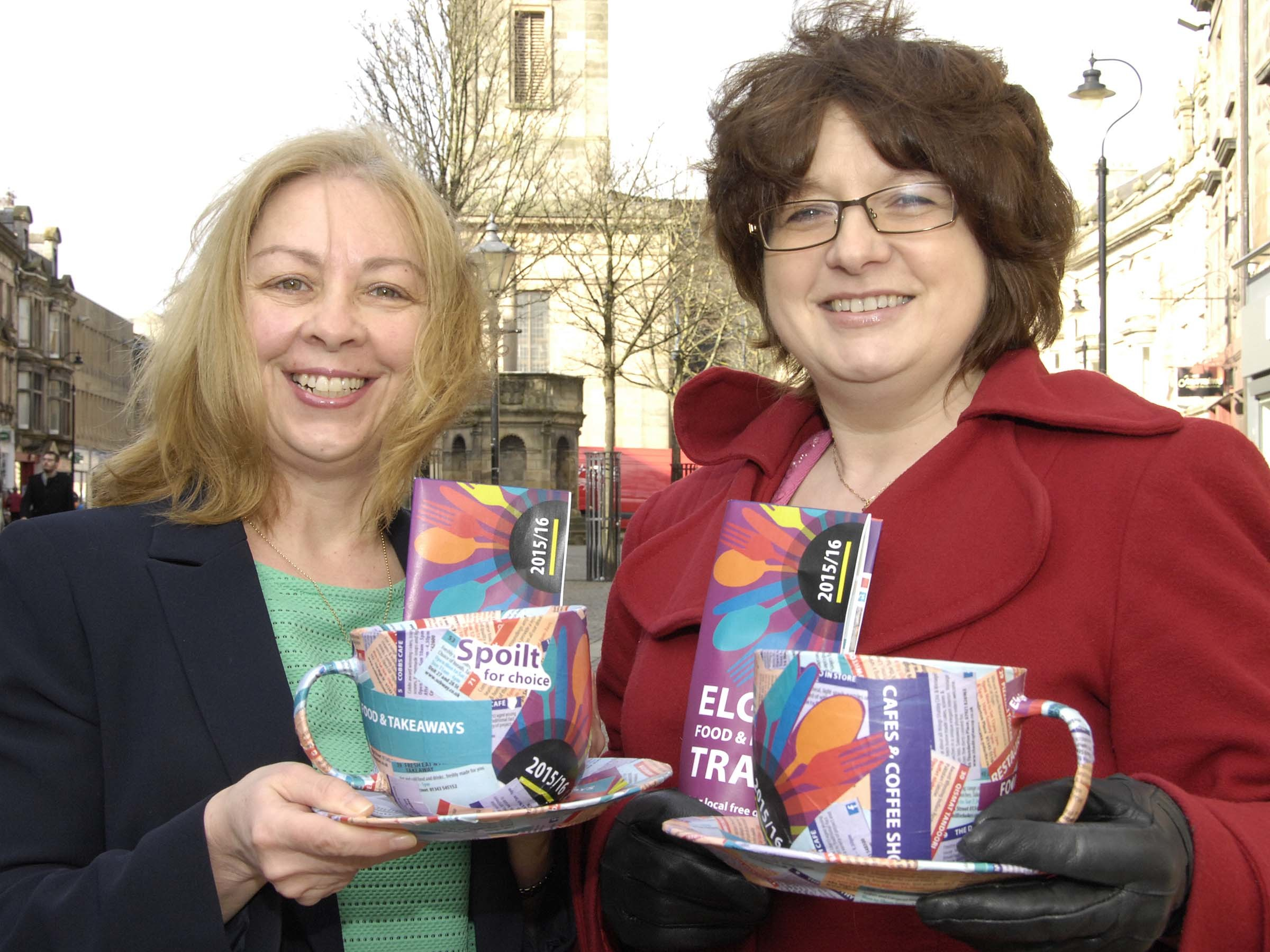 Beverly Smith, Moray Council, left,   Gill Neil, Elgin BID right.