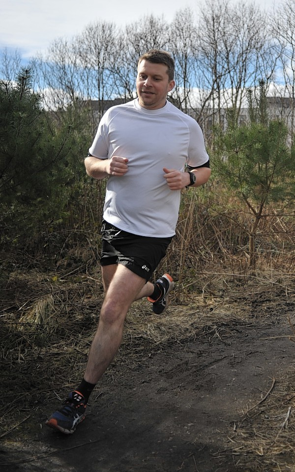 Russell Willox in training for the Edinburgh Marathon